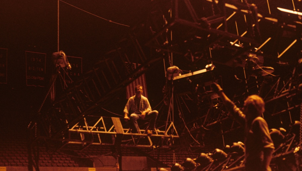 Rigging Earth Wind & Fire Crisler Arena 1977